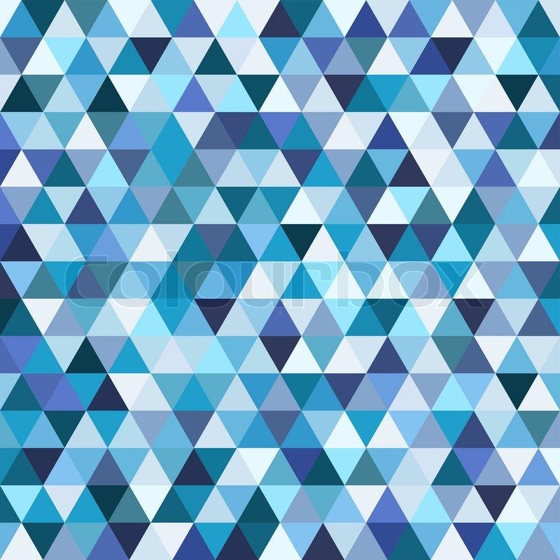 geometrische mosaik muster von blauen dreieck textur abstrakte vektor hintergrund illustration. Black Bedroom Furniture Sets. Home Design Ideas