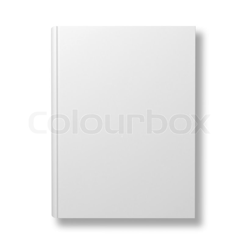 Book Cover Design Isolated Over Colorful Background : Blank book cover isolated over white background with