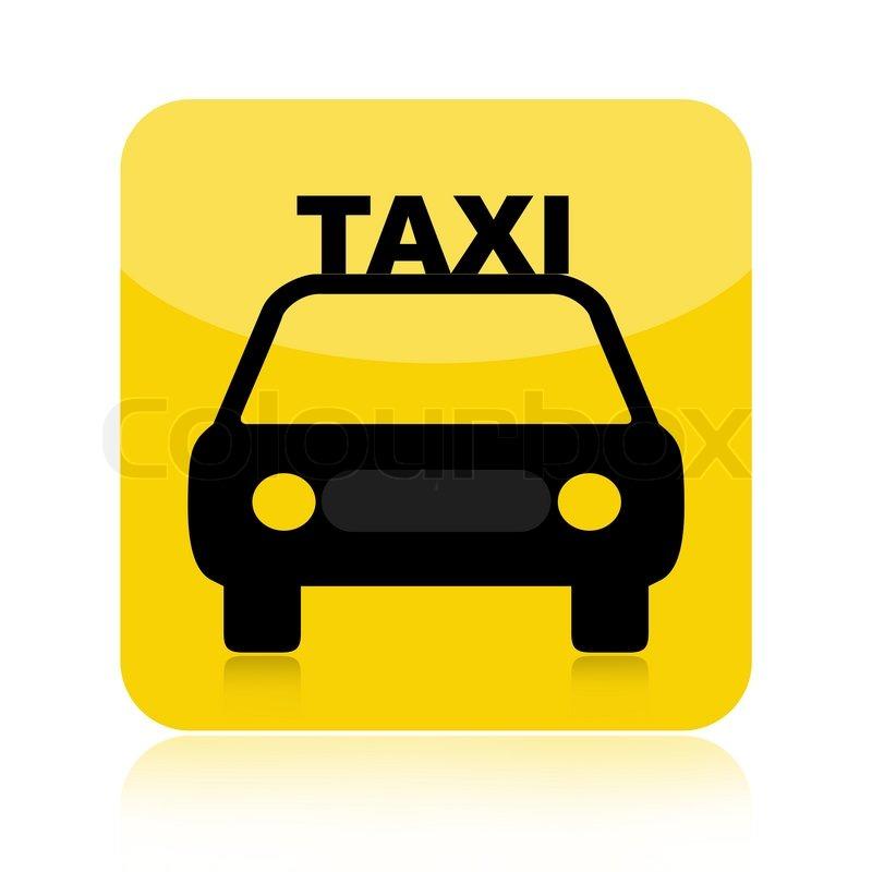 taxi car icon isolated on white stock photo colourbox