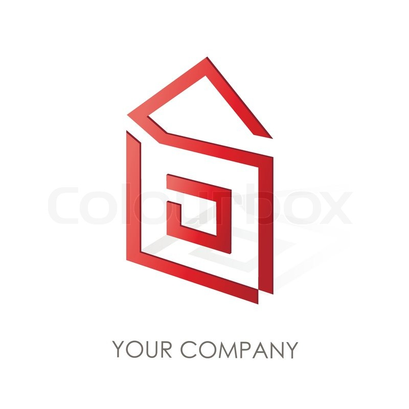Business logo simple house geometric icon design stock for Minimalist house logo