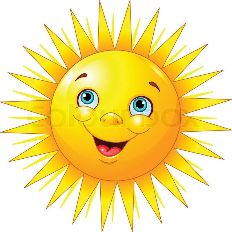 Lächelnde Sonne Stock Vektor Colourbox