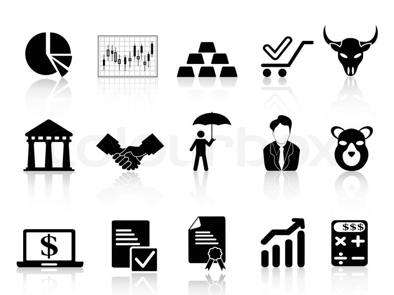 boerse icons vektorgrafik colourbox