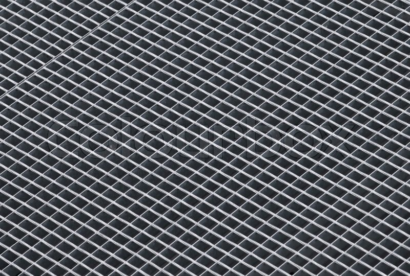 Gray Rough Metal Grid Background Photo Stock Photo