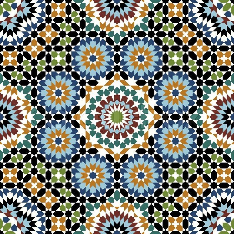traditionelle marokko muster vektorgrafik colourbox. Black Bedroom Furniture Sets. Home Design Ideas