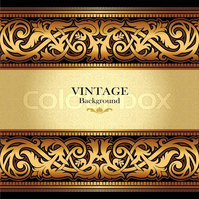 vintage gold background antique victorian ornament baroque frame
