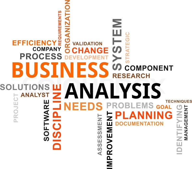 Good A Word Cloud Of Business Analysis Related Items | Stock Vector | Colourbox