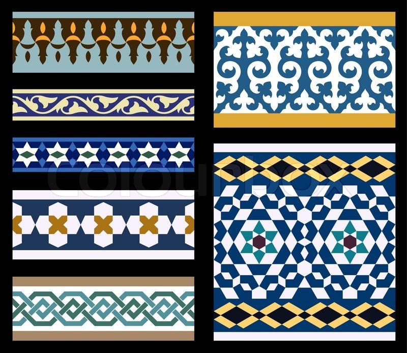 set traditionelle arabische borders  vektorgrafik  colourbox