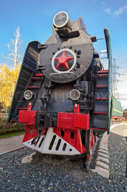 sowjetischen langstrecken passagier lokomotive 50 er jahren des xx jahrhunderts stockfoto. Black Bedroom Furniture Sets. Home Design Ideas
