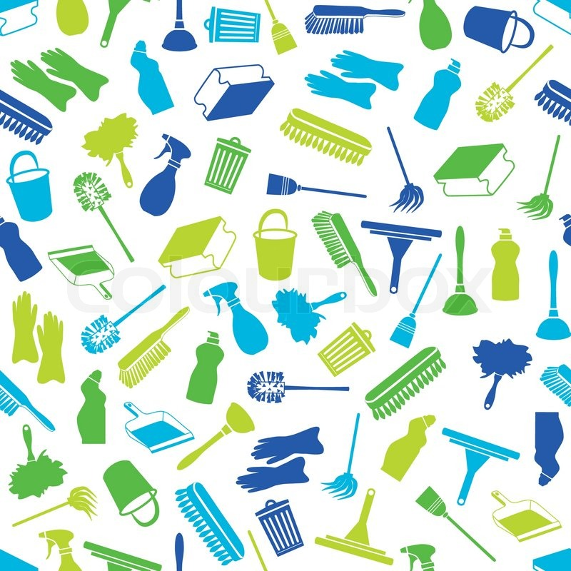 Cleaning Seamless Pattern Stock Vector Colourbox