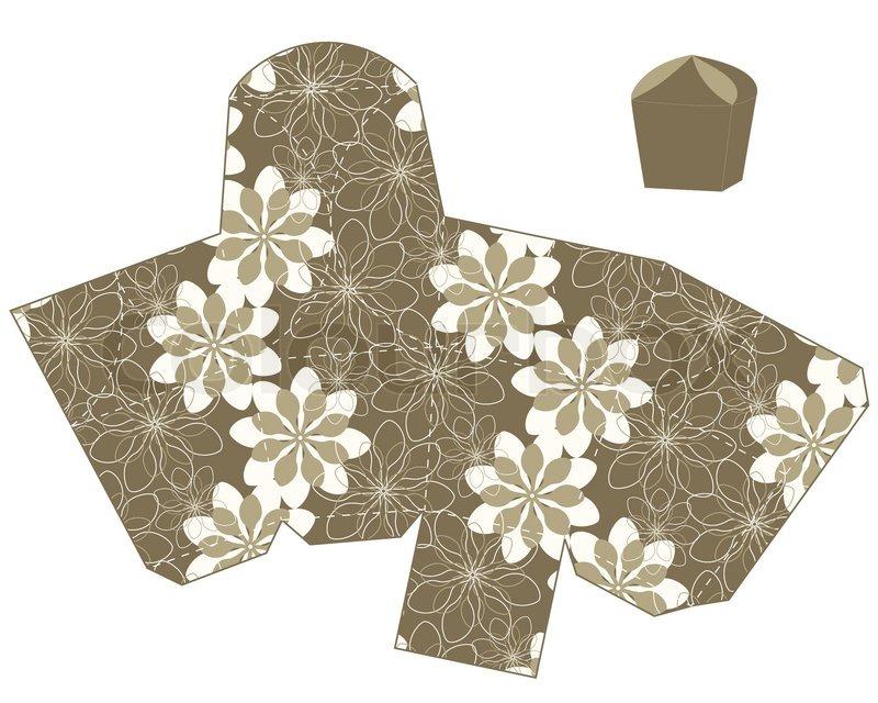 Stilisierte Blume Geschenkbox Vorlage Vektor | Vektorgrafik | Colourbox