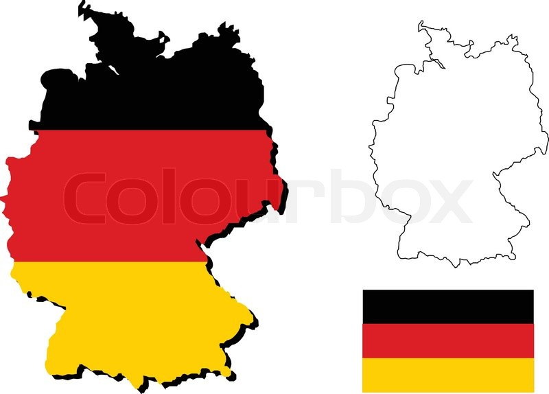 Vector of germany map with german flag | Stock vector ... on german flags of the world, germany map, state flags map, rhine river map, england map, german stereotypes, german world war 1 map, german state flags,