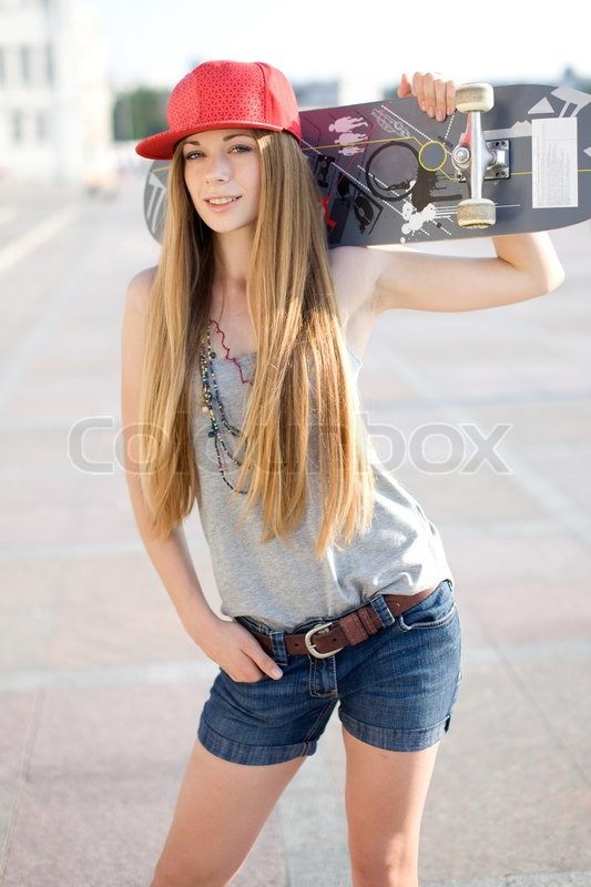 17 y.o. blond teen with long hair | Stock Pto | Colourbox