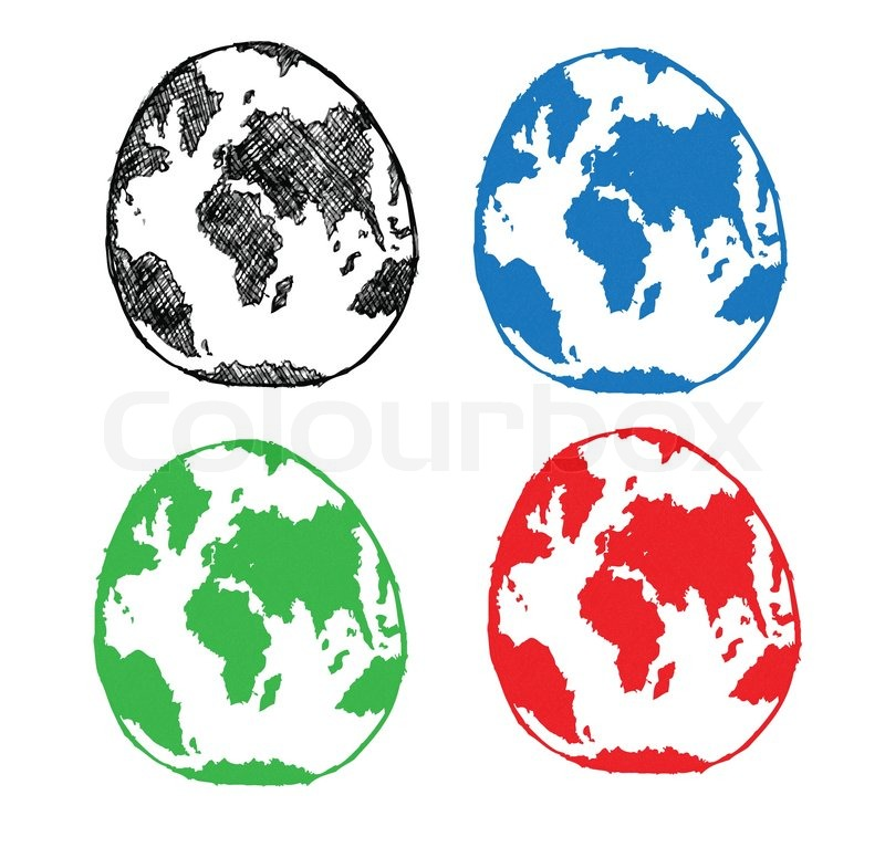 World map globe vector line illustrator stock vector colourbox gumiabroncs Choice Image