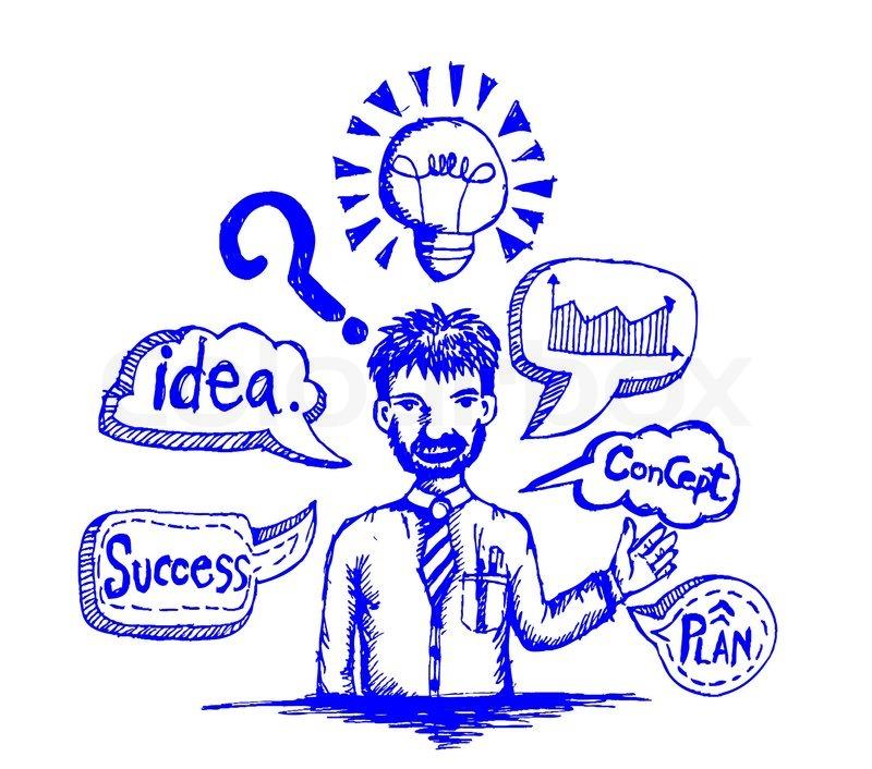 Man Ideas Symbol And Creativity Stock Vector Colourbox
