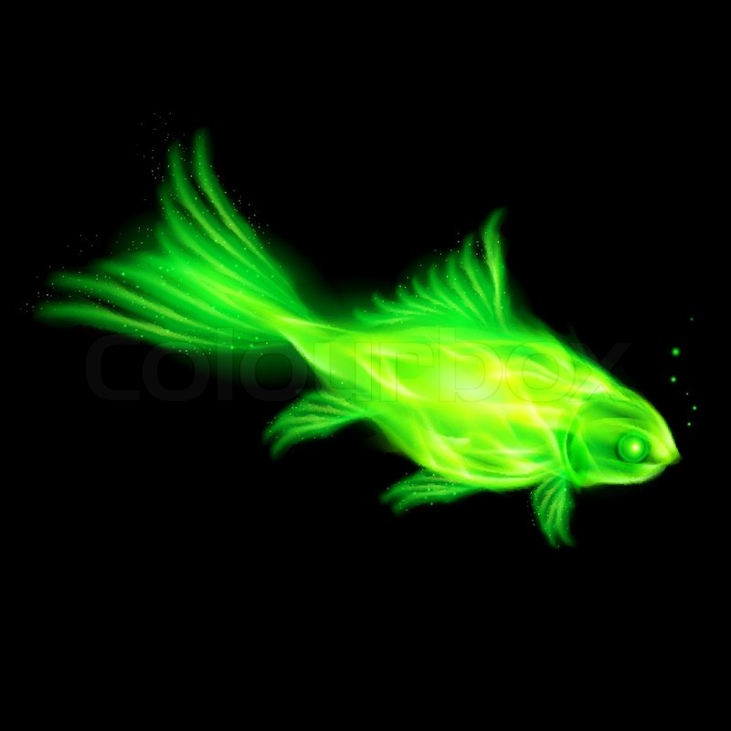 Firefish | Green Fire Fish Stock Vector Colourbox