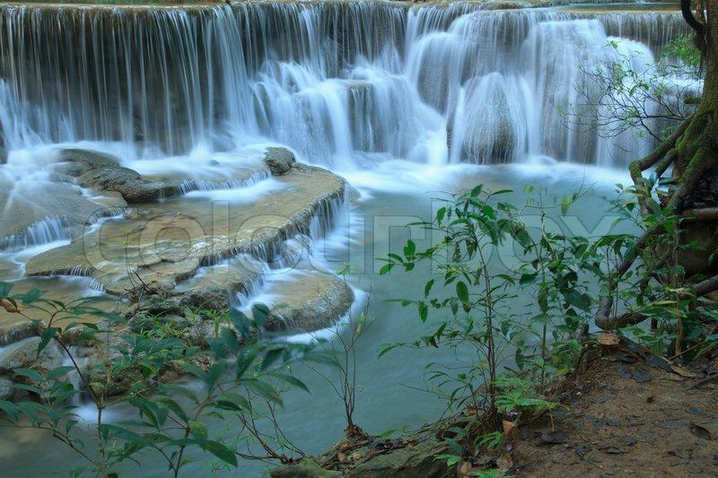 Beautiful Scenery Huay Mae Kamin Waterfall