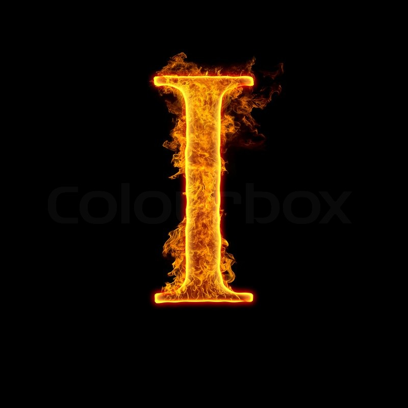 i letter in fire - photo #11