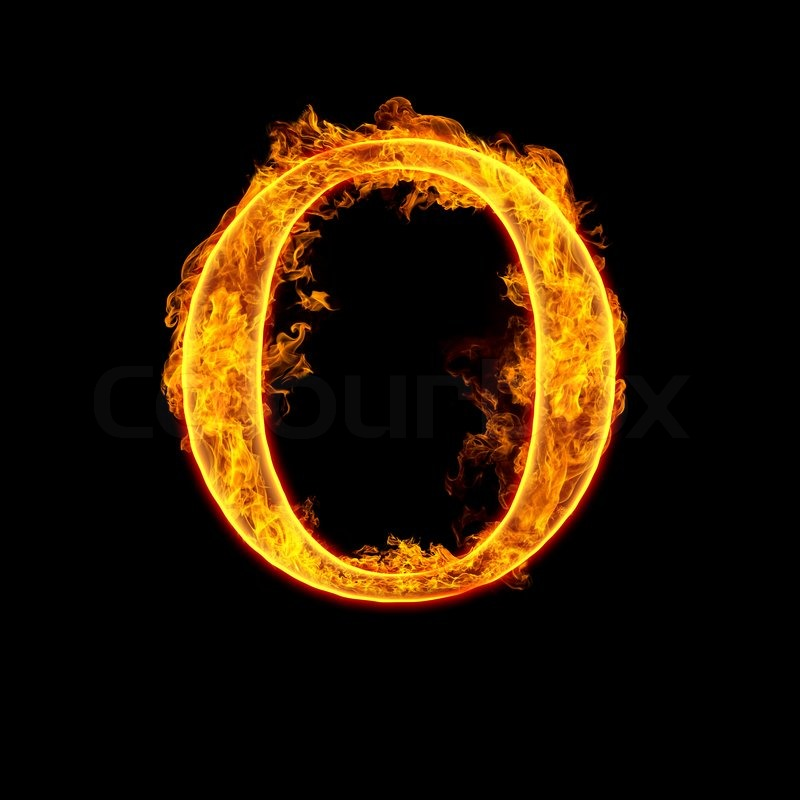 Feuer Buchstaben