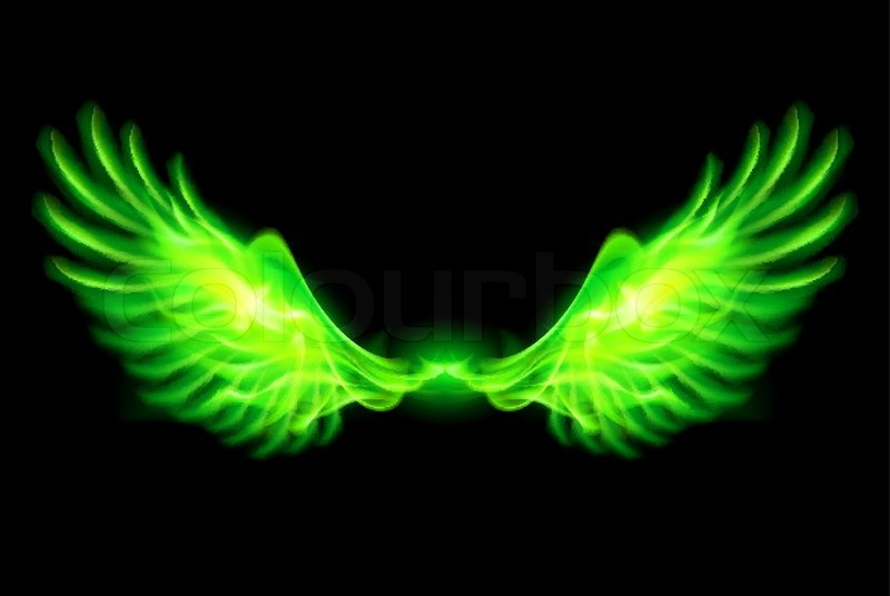 Green fire wings | Sto...