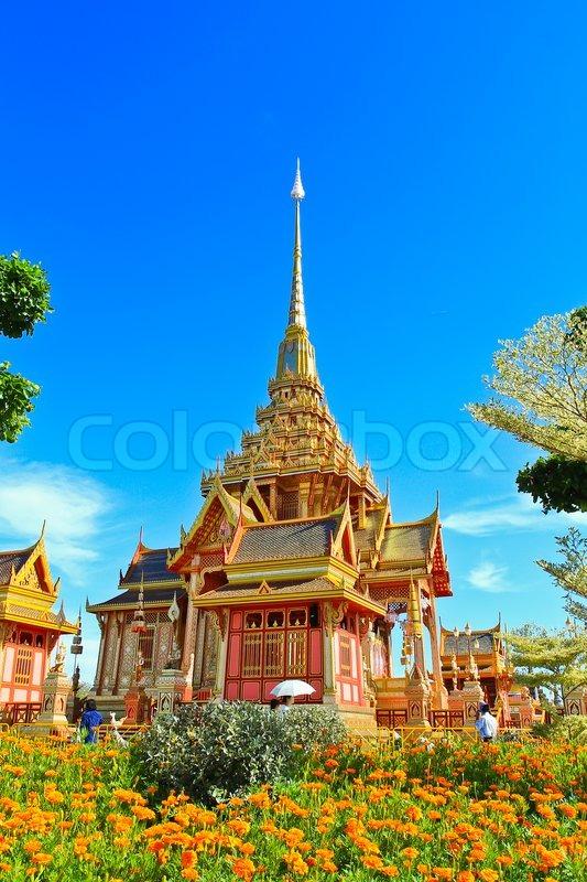 Thai Royal Crematorium in Bangkok Thailand, stock photo