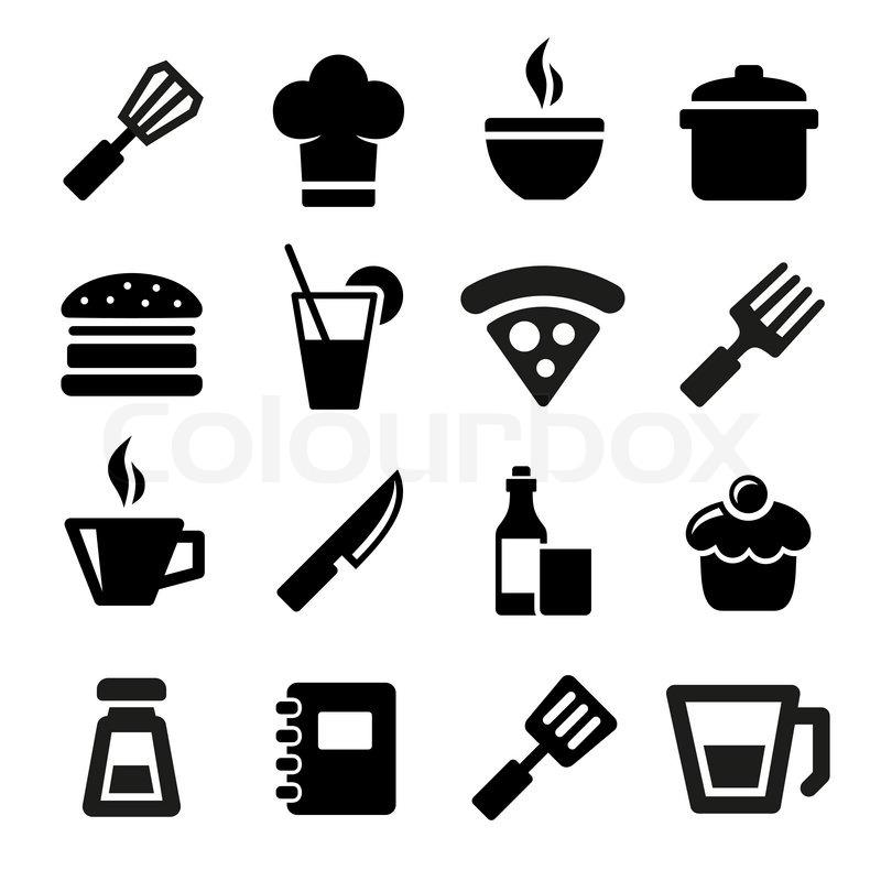 Kitchen Icons Stock Vector Colourbox
