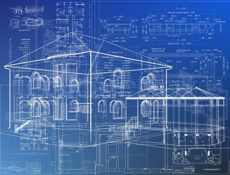 Drahtmodell-Gebäude   Stockfoto   Colourbox