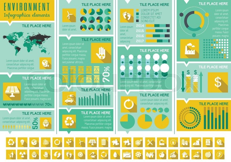 flat infographic elements  opportunity to highlight any