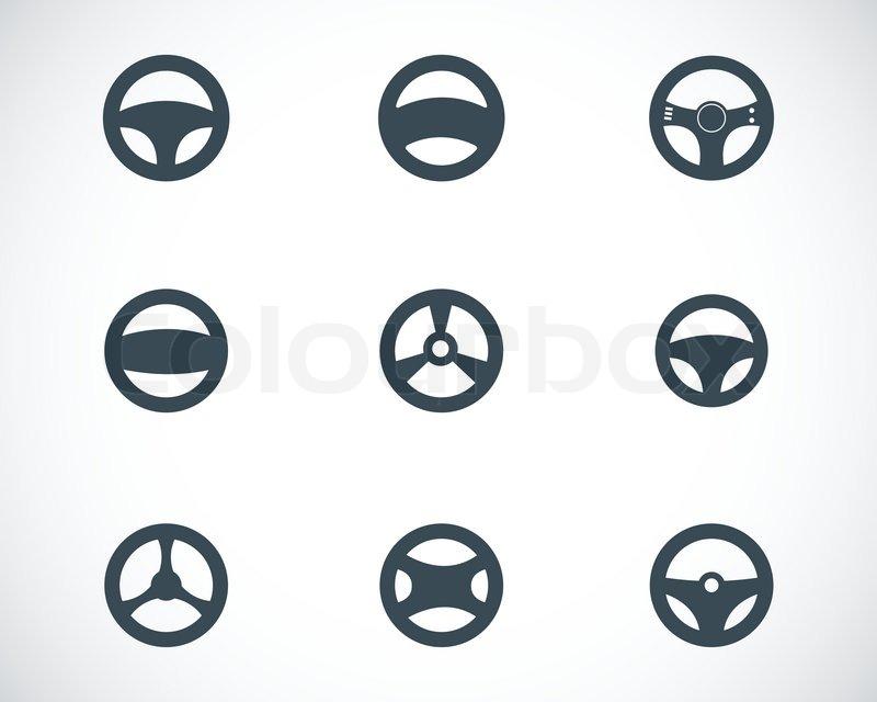 Steering wheel silhouette