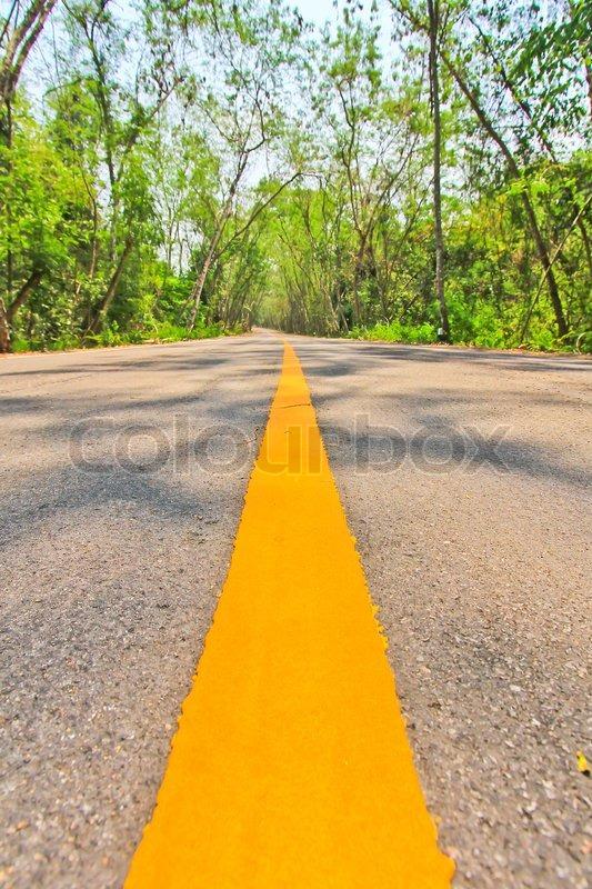 Long road, stock photo