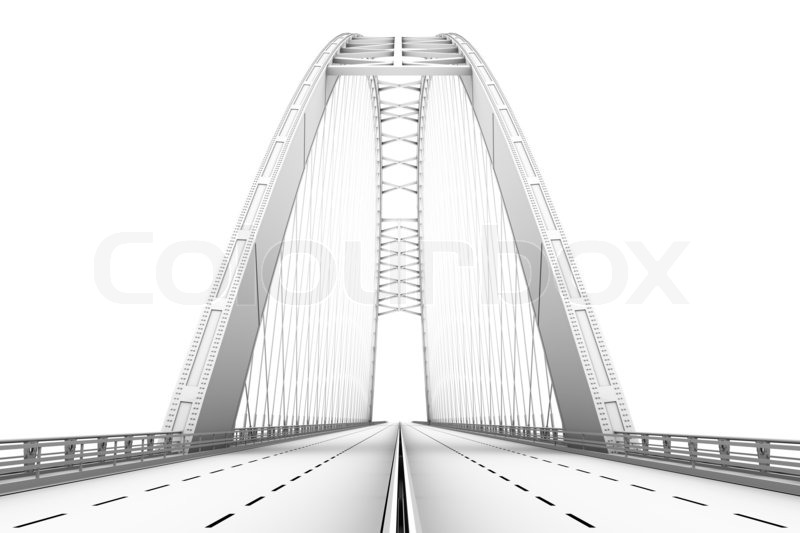 3d Drahtmodell -Darstellung von einer Brücke   Stockfoto   Colourbox