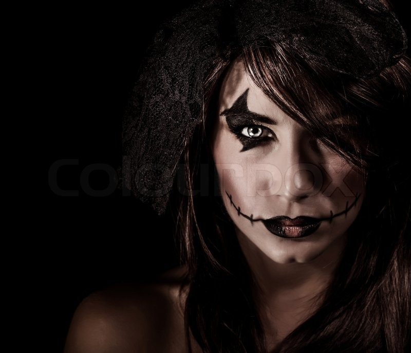 terrifying witch portrait stock photo colourbox. Black Bedroom Furniture Sets. Home Design Ideas