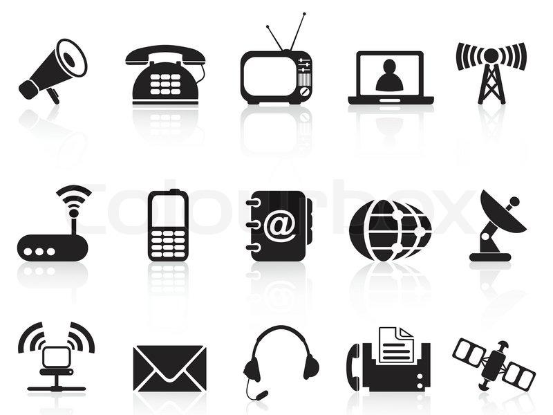 Telekommunikation Symbole Stock Vektor Colourbox