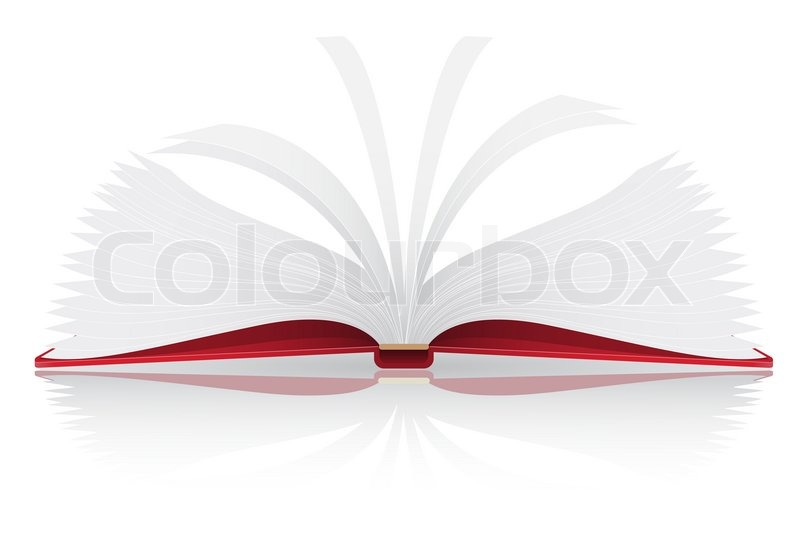 Stock image of 'open book illustration isolated on white background'