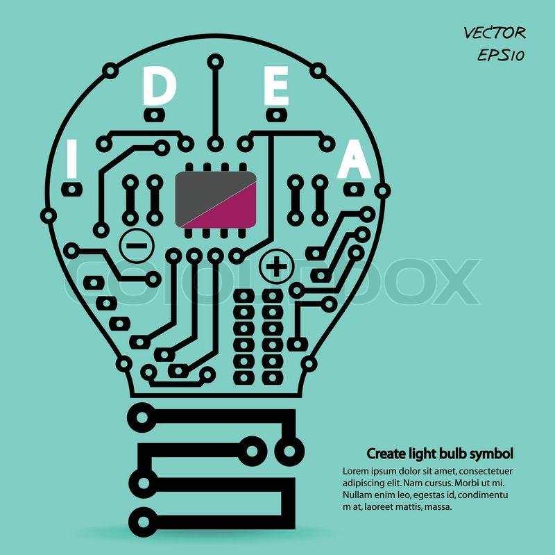 Glühbirne Idee Konzept Vorlage , Glühbirne Schaltsymbol Vektor ...