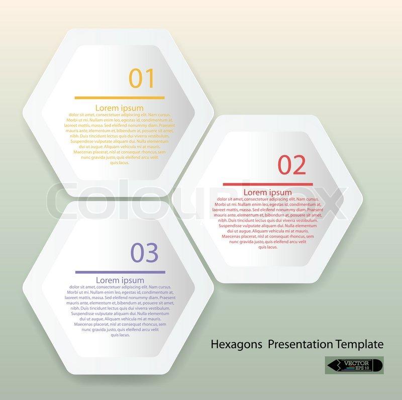 Sauber Sechseck Präsentation Vorlage | Vektorgrafik | Colourbox