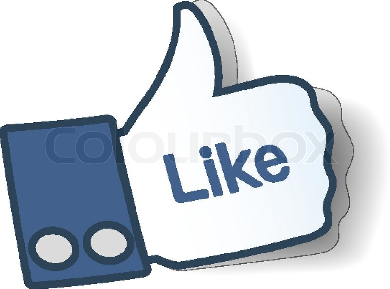 Like Sign Thumbs Up Symbol From Paper Used In Social Networks