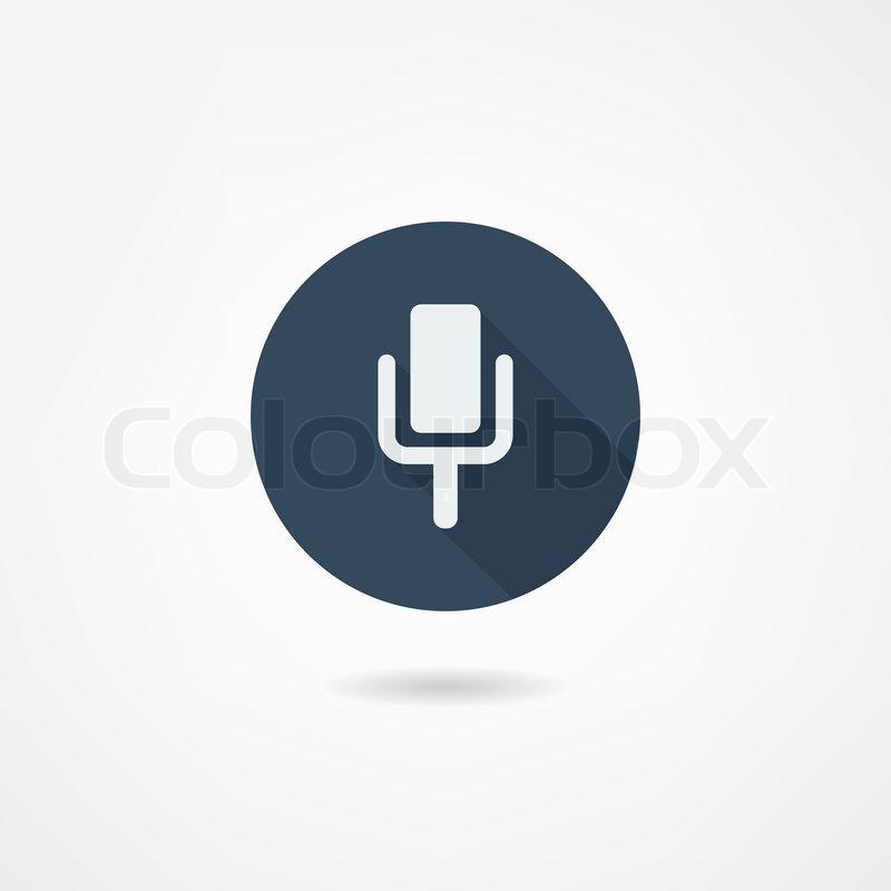 Mikrofon-Symbol | Vektorgrafik | Colourbox
