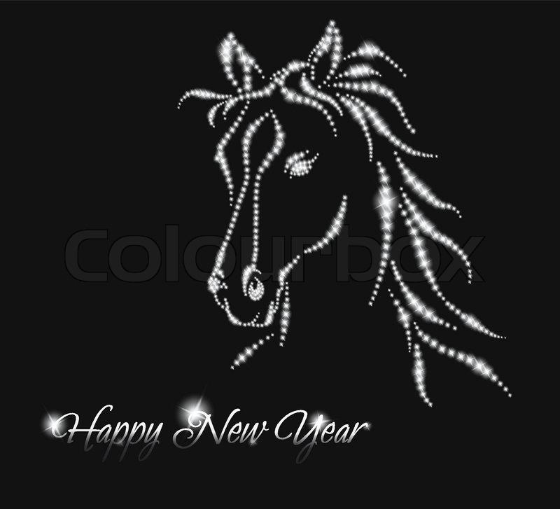 horse happy new year 2014 vector eps 10 stock vector colourbox
