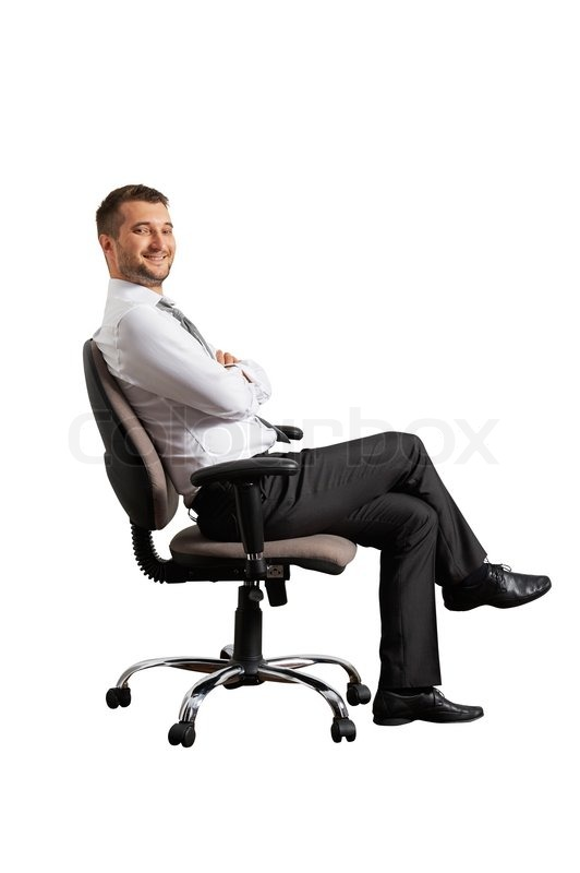Successful Man Sitting On The Office Chair | Stock Photo ...
