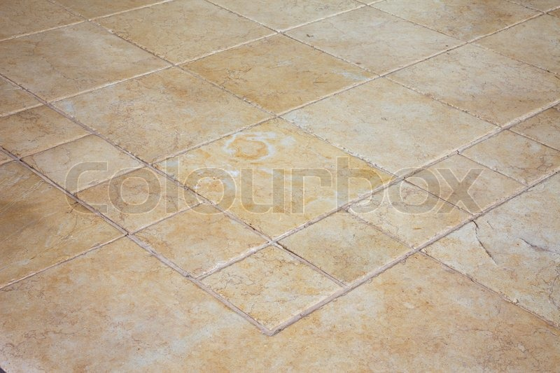 Large Stone Tiles On The Floor Stock Photo Colourbox