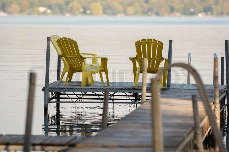 Dock Chairs, Stock Photo