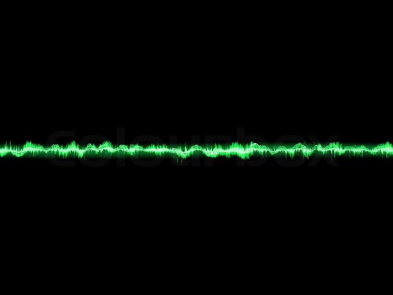 Bright sound wave on a dark green EPS 10, vector