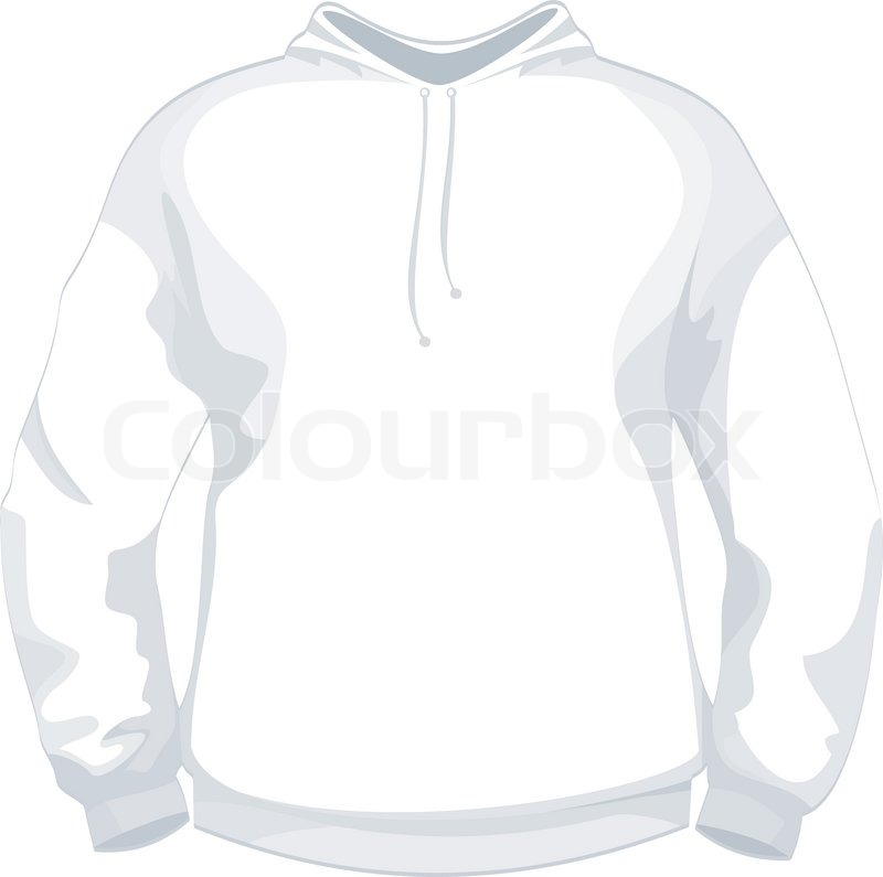 White Jacket Or Sweater Design Template Stock Vector