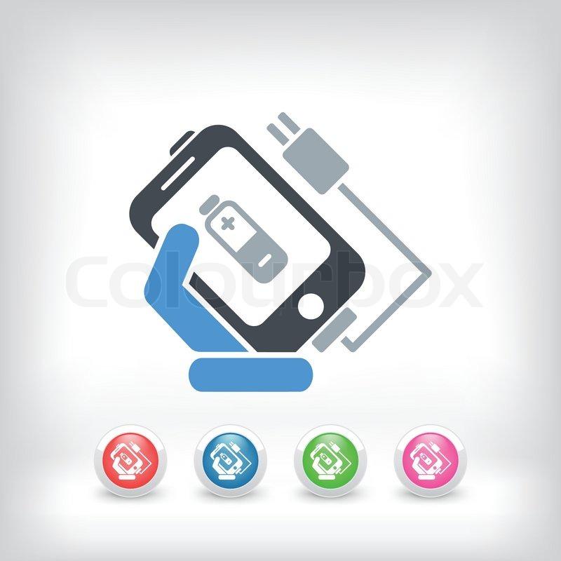 Telefon Ladesymbol   Vektorgrafik   Colourbox