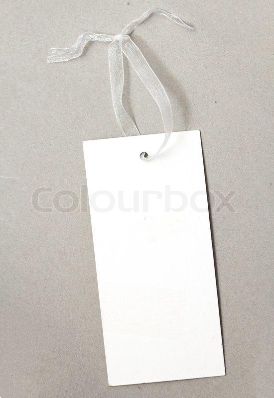 White paper tag, stock photo