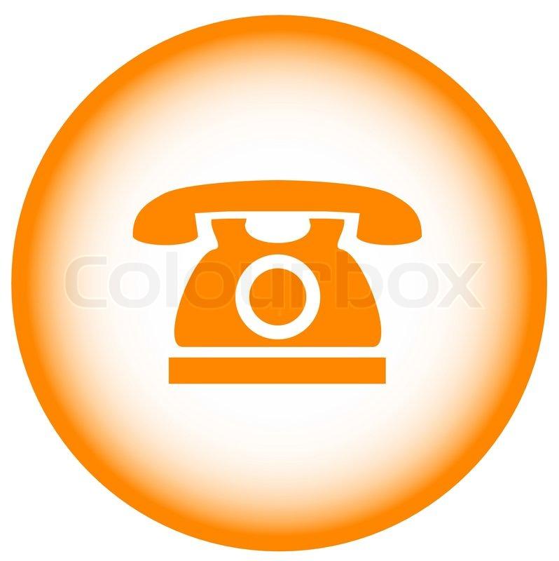 Gold Phone Icon Banking Call Symbol Stock Vector Colourbox