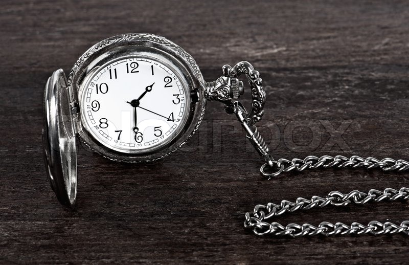 Old watch and chain, stock photo