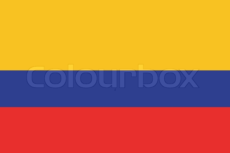 Original And Simple Colombia Flag Isolated Vector In Official Colors