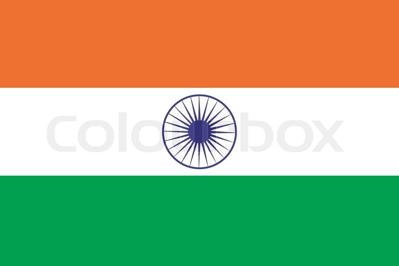 India Flag Colors: Original And Simple India Flag Isolated Vector In Official