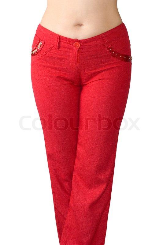 røde jeans til kvinder